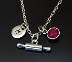 Rolling Pin Necklace Rolling Pin Charm Baking Necklace Bakery Gift Cooking