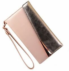 Case-Mate Leather Folio Wristlet Case Cover for iPhone 7 6s 6 - Pink Rose Gold