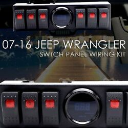 Jeep Wrangler Switch Panel Jeep 6 Rocker Switch Cotrol Bracket JK JKU