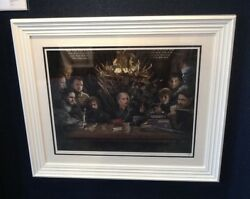 Game Of Thrones - Board Of Games By Jj Adams Framed Limited Colour Edition Of 95