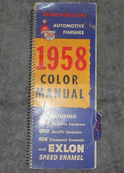 Sherwin - Williams Automotive Finishes 1958 Color Manual Ford Amc Chrysler Gm