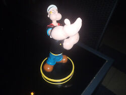 Extremely Rare Popeye Heavy Lifter Polyresin Figurine Statue In Original Box