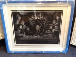 Game Of Thrones - Board Of Games By Jj Adams Framed Limited B/w Edition Of 75