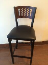 Wholesale Price Commercial Restaurant Metal-wood Bar-stool 20pcs Free Shipping