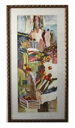 Patricia Govezensky Original Watercolor Hand Signed Early Years With Coa