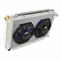Aluminum Racing 3 Row Radiator+10 Fans Fits 79-93 Ford Mustang Glx Lx Gt Svt