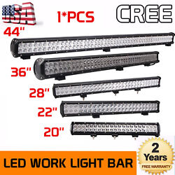 20''inch 126w-44inch 288w Led Work Light Bar Offroad Driving Combo Car Boat Lamp
