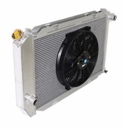 Aluminum Racing 3 Row Radiator+14 Fan Fits For 71-73 Ford Mustang V8 Mt Only