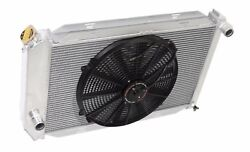 Aluminum Racing 3 Row Radiator+16 Fan Fits For 71-73 Ford Mustang V8 Mt Only