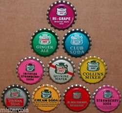 Vintage Soda Pop Bottle Caps Canada Dry Collection Of 10 Different New Old Stock
