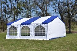 20'x20' Budget PVC Party Tent - Canopy Shelter - Storage Bag Sold Separately