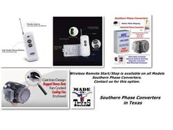 30hp Phase Converter--wireless Remote Start Available--cnc Industrial Digital