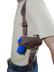 NEW Barsony Brown Leather Shoulder Holster Kel-Tec Taurus Sccy 380 9mm 40 45