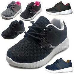 New Baby Boys Girls Toddler Mesh Sneaker Sporty Lace Up Tennis Shoe Size 4 to 9 $12.95