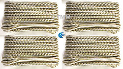 4 Gold/white Double Braided 3/8x20' Ft Hq Boat Marine Dock Lines Mooring Rope