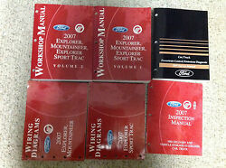 2007 FORD Explorer & Sport Trac Mountaineer Service Shop Manual Set W PCED + Lot