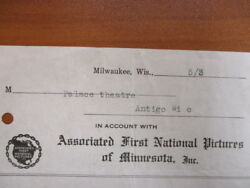 Movie Letterhead Associated First National Pictures What A Wife Learned 5/3/1923