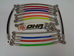 Oha Stainless Mx Braided Front And Rear Brake Lines - Yamaha Wr450f Wr450 F Motox
