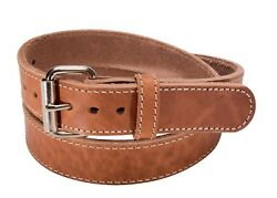 Natural American Bullhide Double Thick Full Grain Leather Stitched Gun Belt
