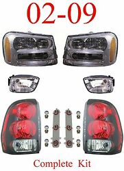 02 09 Trailblazer 6pc Head Fog And Tail Light Assembly Chevy Suv New In Box