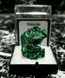 Minerals Green Acicular Malachite Crystals On All Sides, Republic Of Congo