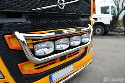 To Fit 13+ Volvo FH4 Steel Grill Light Bar C + Jumbo Spots + Step Pad + Side LED