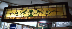 Vintage Stained Glass Window Panel 09262ns
