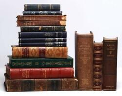 Antique Books Late 18th / Early 19th C. Leather Bound Decorative