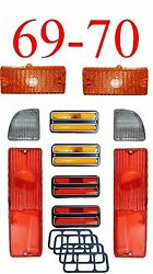 69 70 Chevy 10pc Tail Light, Deluxe Side And Amber Parking Light Kit C/k Truck