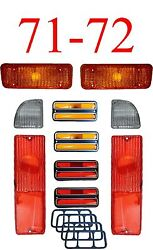 71 72 Chevy 10pc Tail Light, Deluxe Side And Amber Parking Light Kit C/k Truck
