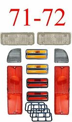 71 72 Chevy 10pc Tail Light, Deluxe Side And Clear Parking Light Kit C/k Truck
