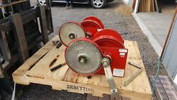Thern M492 10,000lb Spur Gear Hand Marine Winches 2 Ea