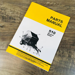 Parts Manual For John Deere 510 Hay Baler Knotter Round Exploded Views Assembly