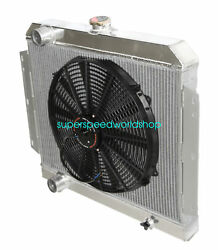 3 Row Performance Radiator+16 Fans Fit 66-69 International Scout V8 Mt