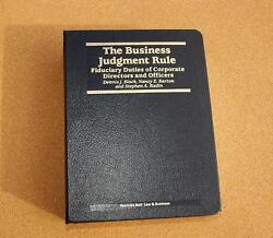 The Business Judgment Rule Fiduciary Duties Of Corporate Directors And Officers