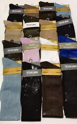 MEN#x27;S OVER THE CALF SEXY SHEER AND RIBBED ORIGINS STACY ADAMS SOCKS NEW $10.99
