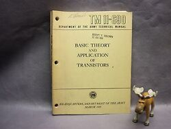 Basic Theory And Application Of Transistors Dept. Of The Army Manual