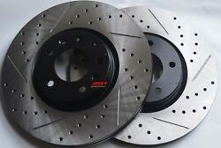 Fits Maxima Altima Slotted Or Cross Drilled Rotors Akebono Pads F+R