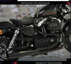 Exhaust Mufflers Red Thunder Black Approved 2in1 Hd Sportster Xl 883 1200 All