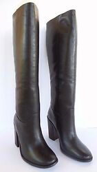 Allsaints Womens Onyx Knee High Boots Black Leather New With Box Size 6 7 8 9