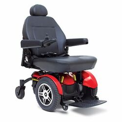 Pride Mobility Jazzy Elite 14 Electric Wheelchair In Red