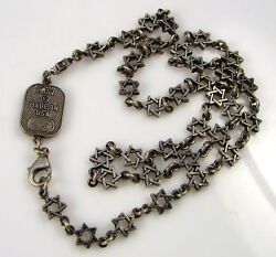 King Baby Queen Baby Chosen Sterling Silver Star Of David Chain Link Necklace