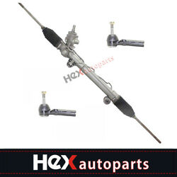 Complete Power steering Rack & Pinion Assembly + 2 Outer Tie Rods Fits Chevrolet