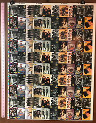 The Beatles Collection Full Uncut Sheet Of 100 Trading Cards By River Group V3
