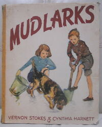 Mudlarks Vintage Children's Book Fox-Terrier Mix Dog Vernon Stokes Illus. 1948