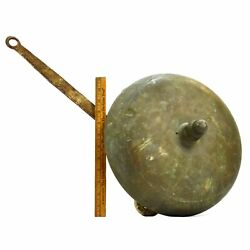 Vintage Boxing Ring Bell Huge, 13 Brass And Iron Wood Mounted Needs New Springs