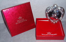 1993 Wallace 2nd Annual Grand Baroqu Sterling Heart Christmas Ornament Medallion