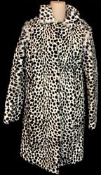 Givenchy Goat Fur Jacket Black And White Spottedprint Nwt Size 34