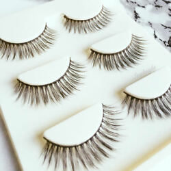 3 Pairs of Vegan Mink Soft Natural Long Full False Eye Lashes for Daytime Looks