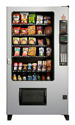 2 X AMS Candy Chip & Snack Vending Machine Gray 45 Select wCoin & Bill Mech